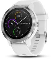 Garmin Vivoactive 3 30,4mm plata con correa de silicona blanca