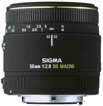 Sigma 50 mm F2.8 DG EX Macro 55 mm Objectif (adapté à Canon EF) noir