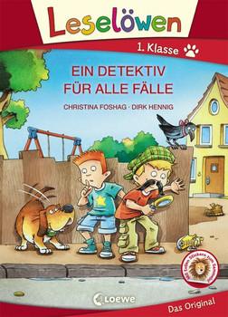 Leselöwen 1. Klasse - Ein Detektiv für alle Fälle. Großbuchstabenausgabe - Christina Foshag  [Gebundene Ausgabe]