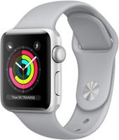 Apple Watch Series 3 38 mm aluminium zilver met sportarmband grijs [wifi]