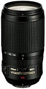 Nikon AF-S NIKKOR 70-300 mm F4.5-5.6 ED G IF VR 67 mm Objectif (adapté à Nikon F) noir