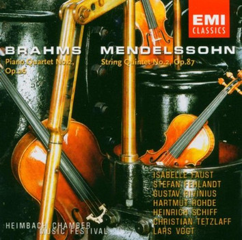 Lars Vogt - Brahms: Klavierquartett Nr. 2 / Mendelssohn: Streichquintett Nr. 2