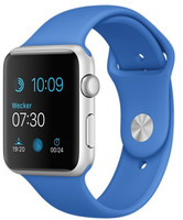 Apple Watch Sport 42 mm grise bracelet bleu roi [Wi-Fi]