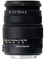 Sigma 50-200 mm F4.0-5.6 DC HSM OS 55 mm Objetivo (Montura Nikon F) negro