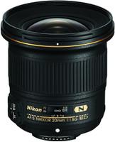 Nikon AF-S NIKKOR 20 mm F1.8 ED G 77 mm Objectif (adapté à Nikon F) noir