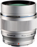 Olympus 75 mm F1.8 ED 58 mm Obiettivo (compatible con Micro Four Thirds) argento