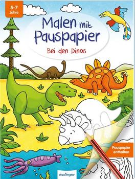 Malen mit Pauspapier: Bei den Dinos [Taschenbuch]