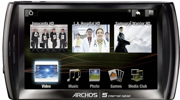 "Archos 5 Internet Tablet 4,8"" 160 GB [wifi] zwart"