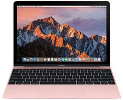 Apple MacBook 12 (Retina Display) 1.2 GHz Intel Core M3 8 Go RAM 256 Go PCIe SSD [Milieu 2017, clavier anglais, QWERTY] or rose