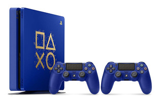 Sony PlayStation 4 slim 500 GB [Days of Play Limited Edition inkl. 2 Wireless Controller] blau