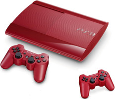 Sony PlayStation 3 super slim 500 GB rojo [incluye 2 mandos inalámbricos]