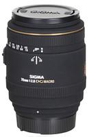Sigma 70 mm F2.8 DG EX Macro 62 mm Objectif (adapté à Nikon F) noir