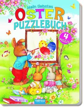 Mein liebstes Oster - Puzzlebuch. 4 Puzzles, 12-teilig mit Farbvorlagen [Taschenbuch]
