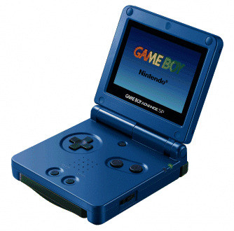Game Boy Advance SP surf blue