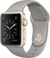 Apple Watch Series 2 38mm cassa in alluminio oro con cinturino Sport grigio [Wifi]