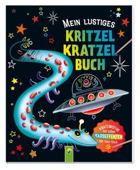 Mein lustiges Kritzel-Kratzel-Buch. Kratzmotive mit tollen Farbeffekten - Mit Holz-Stick [Taschenbuch]