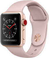 Apple Watch Series 3 38 mm aluminium goud met sportarmband roze [wifi + cellular]