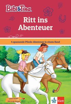 Bibi und Tina Ritt ins Abenteuer. 4 spannende Pferde-Abenteuer in einem Band. Mit Hufeisen-Quiz. [Gebundene Ausgabe]