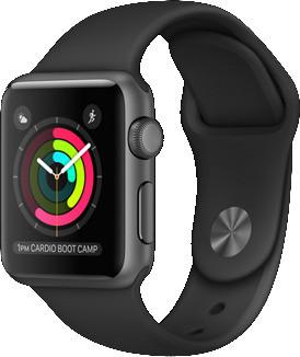 Apple Watch Series 2 38mm cassa in alluminio grigio siderale con cinturino Sport nero [Wifi]