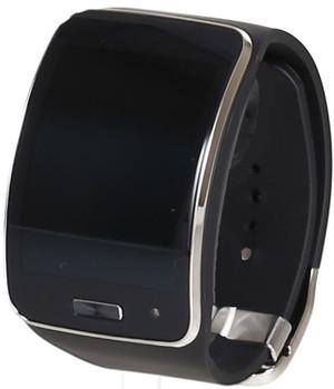 Samsung Gear S 50,9 mm zilver met silicone bandje blauwzwart [wifi + 3G]