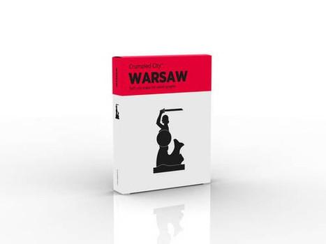 Crumpled City Map - Warsaw: Die cleveren Stadtpläne für Großstadtnomaden
