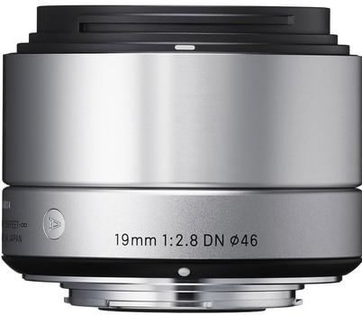 Sigma A 19 mm F2.8 DN 46 mm filter (geschikt voor Sony E-mount) zilver