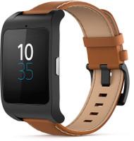 Sony SmartWatch 3 46mm noir avec bracelet en cuir marron [Wi-Fi]