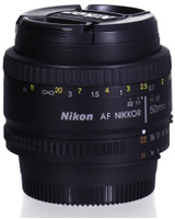 Nikon AF NIKKOR 50 mm F1.8 50 mm Objetivo (Montura Nikon F) negro