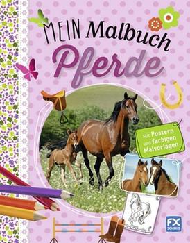 Mein Malbuch Pferde