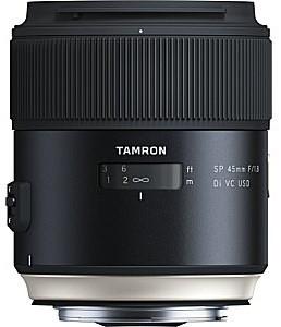 Tamron SP 45 mm F1.8 Di USD VC 67 mm Obiettivo (compatible con Canon EF) nero