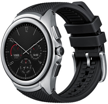 LG Watch Urbane 35mm plata con pulsera negra [Wifi + 3G, 2nd Edition]