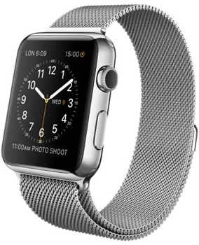 Apple Watch 42 mm zilver met Milanees bandje zilver [wifi]