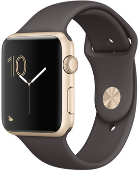 Apple Watch Series 2 42 mm goud aluminium met sportarmband cacao [wifi]