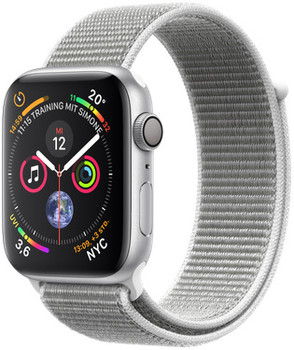 Apple Watch Serie 4 44 mm alloggiamento in alluminio argento con Loop sportivo conchiglia [Wi-Fi]