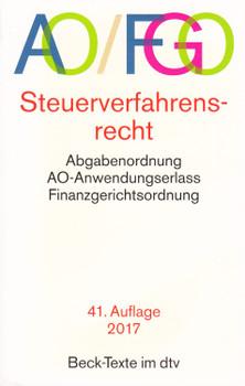AO/FGO: Steuerverfahrensrecht - Abgabenordnung, AO-Anwendungserlass, Finanzgerichtsordnung [Taschenbuch, 41. Auflage 2017]
