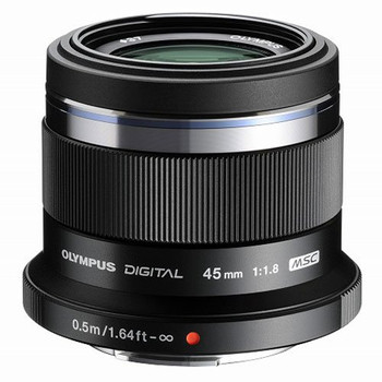 Olympus M.Zuiko Digital 45 mm F1.8 37 mm Objectif (adapté à Micro Four Thirds) noir