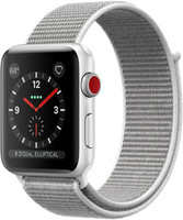Apple Watch Series 3 42mm cassa in alluminio argento con cinturino Loop Sport madreperla [Wifi + Cellular]