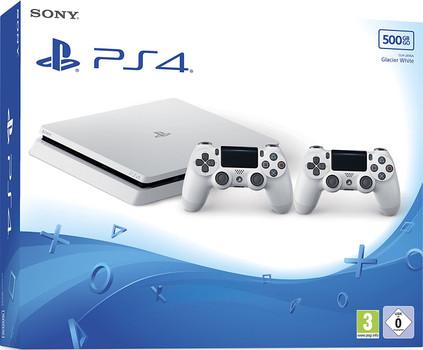 Sony Playstation 4 slim 500 Go [incl. 2 manettes sans fil] blanc