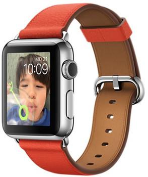 Apple Watch 38mm plata con correa con hebilla clásica roja [Wifi]