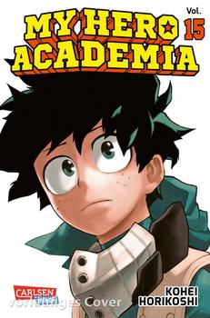 My Hero Academia 15. Die erste Auflage immer mit Glow-in-the-Dark-Effekt auf dem Cover! Yeah! - Kohei Horikoshi  [Taschenbuch]