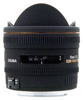 Sigma 10 mm F2.8 DC EX HSM Fisheye (adapté à Pentax K) noir