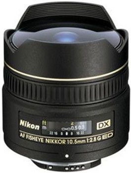 Nikon AF DX NIKKOR 10,5 mm F2.8 G  (geschikt voor Nikon F) zwart