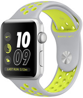 Apple Watch Nike+ Series 2 42mm Caja de aluminio en plata con correa Nike Sport plata amarillo [Wifi]