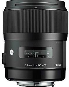 Sigma A 35 mm F1.4 DG HSM 67 mm filter (geschikt voor Canon EF) zwart