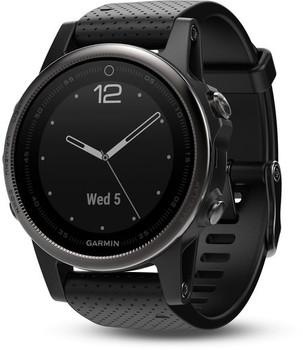 Garmin Fenix 5S 42 mm Saphir Edition zwart met siliconebandje zwart [wifi]