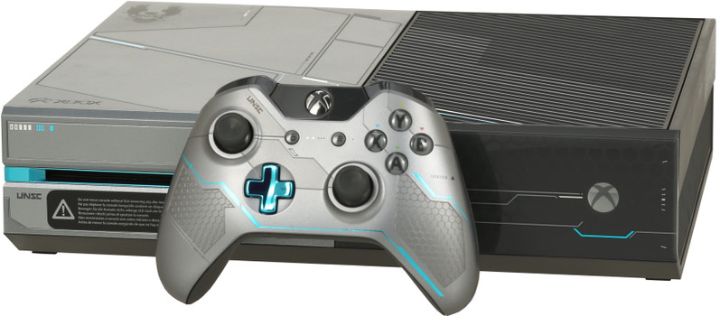Microsoft Xbox One 1 TB [Halo 5 Guardians Special Edition incl. draadloze controller, zonder game] zilver