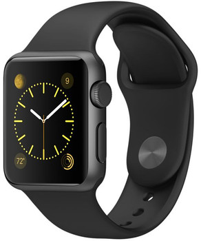 Apple Watch Sport 38 mm space gray met sportbandje zwart [wifi]
