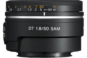 Sony 50 mm F1.8 DT SAM 49 mm Objetivo (Montura Sony A-mount) negro
