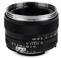 Zeiss Planar T* 50 mm F1.4 ZF 58 mm objectif (adapté Nikon F) noir