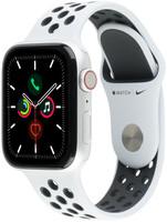 Apple Watch Nike+ Series 5 40 mm Aluminiumgehäuse silber am Nike Sportarmband pure platinum/schwarz [Wi-Fi + Cellular]